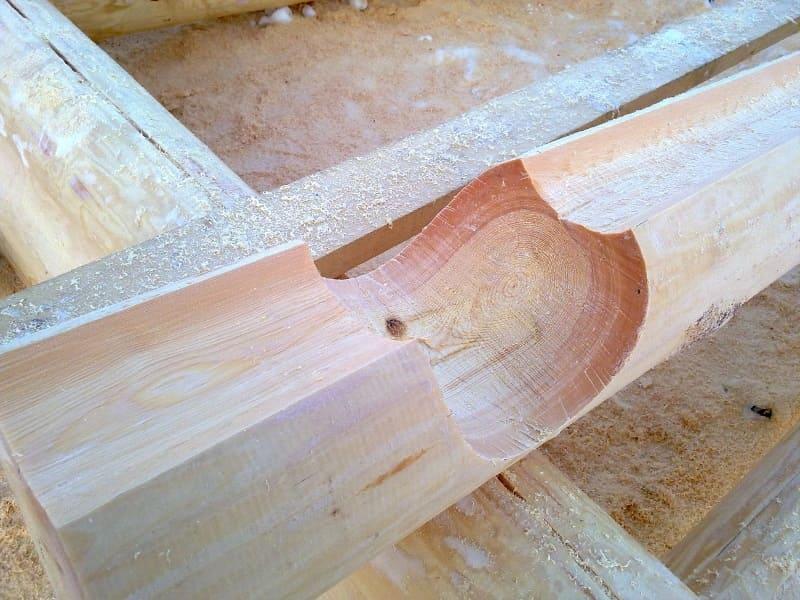 Способы ручной рубки дома или бани из дерева